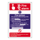 Safety Sign Fire Alarm Instruction Signs