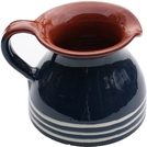 ABS Terracotta Chubby Jug (Blue with Cream Swirl)