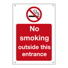 Exterior Sign No Smoking Outside This Entrance