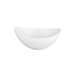 Moonstone Bowl Oval White 11 x 14cm 28.5cl