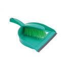 Dustpan And Brush Set Stiff Brush Green
