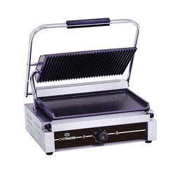 Chefmaster Large Single Contact Grill - Ribbed/Flat