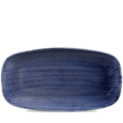 Stonecast Patina Cobalt Blue Oblong Plate No. 4