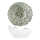 Grey Raku Kyoto Melamine Curved Bowl 144x141x70mm