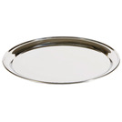 Service Tray Stainless Steel Round 36cm