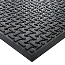 Kitchen Mat Black 0.85 x 1.4m