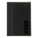 Trendy Leather Style A5 Menu Holder Black