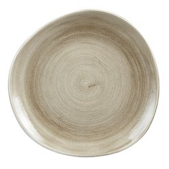 Patina Antique Taupe Organic Plate 11.25 inch