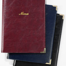A5 Menu Cover Burgundy 4 Sides To View