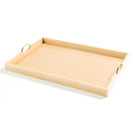 Handled Butlers Tray Beechwood Oblong 60 x 40cm