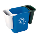 Deskside Recycling Saddle Bin Green 4.5ltr