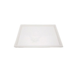 Melamine Flat Tray White With Rim 45.4 x 32.7cm