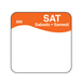 Daymark label Saturday Removable Square 2.5cm