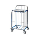 Tray Pick-Up Trolley with Cutlery Tray - S/Steel