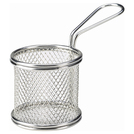Stainless Steel Serving Fry Basket Round