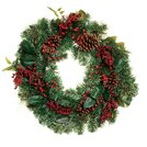 Red Berry Pine Wreath 61cm