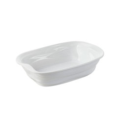 Froisse Crumple Rectangular Dish White 50cl