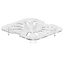 Gastronorm Drainer Plate Poly 1/2 Clear