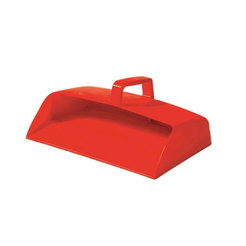 Dustpan Enclosed Red Plastic