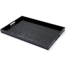 Handled Butlers Tray Black Oak Oblong 60 x 40cm