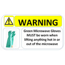 Microwave Sticker 150 x 100mm
