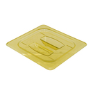 Gastronorm Plain Lid High Heat Poly 1/6 Amber