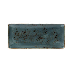 Steelite Craft Rectangular Four Plate Blue