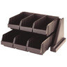 Cutlery Dispenser Plastic 6 Compartments Brown