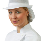 Mesh Hat With Snood Headwear White XL