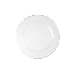 Profile Footed Plate White 23.4cm