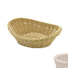 Oval Basket Curved Top White