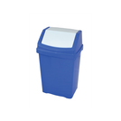50l Plastic Swing Top Bin Blue