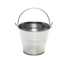 12.5cm Tall Silver Colour Galvanised Display Bucket