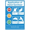 Application Of Hand Sanitiser Sign