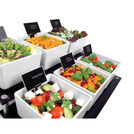 Salad Bar Station Acrylic Black