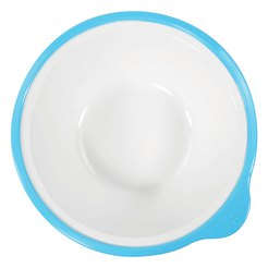 Omni White Bowl with Blue rim 180x170x50mm 400ml