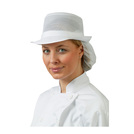Mesh Hat With Snood Headwear White S