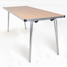 Folding Table 1830 x 685 x 760H -Beech laminated top