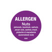 Nut Allergen Label Roll 2.5cm Dia