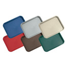Tray Cafeteria Blue Oblong Poly 46 x 36cm