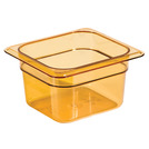 Gastronorm Container High Heat 1/6 65mm Amber