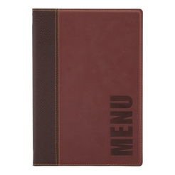 Trendy Leather Style A5 Menu Holder Wine Red