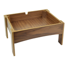 Walnut Veneer MDF Stand 18.2cm High