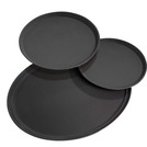 Black Tray Round 40.5cm Anti Slip