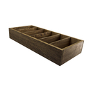 6 Compartment Cutlery Box Wooden Dark Wood