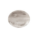 Textured Prints Sepia Wood Oval Plate 19.7cm