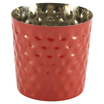 Stainless Steel Serving Cup Hammered 8.5 x 8.5cm Red