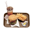 Tray Fast Food Brown Oblong Poly 34.5 x 26.5cm