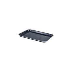 Enamel Tray Black With White Rim 38.2 x 26.4 x 2.2cm