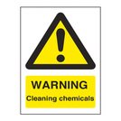 Warning Sign Cleaning Chemicals